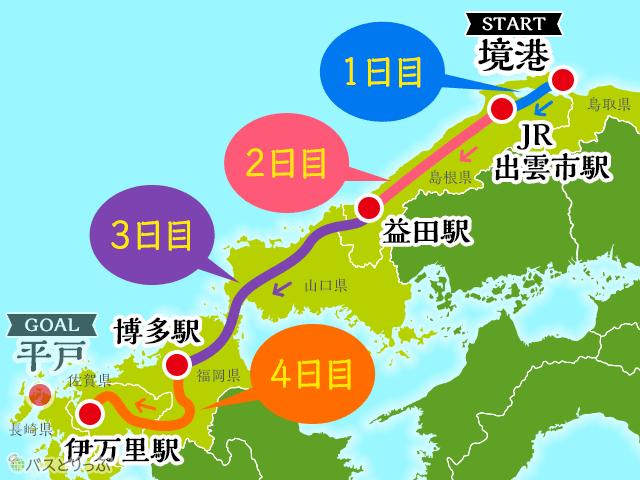ローカル路線バス乗り継ぎの旅Z第8弾_ルートまとめ