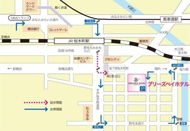 リゾートカプセル桜木町・地図