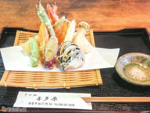奈良の野菜を天ぷらで(東大寺&興福寺)