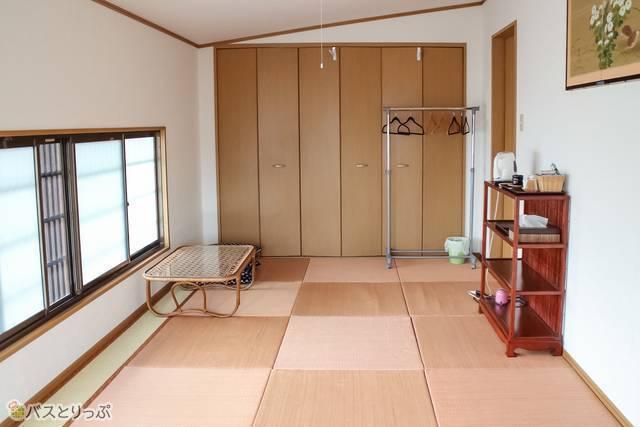宿泊した8畳の洋室(京終ゲストハウス)
