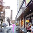 東横イン弘前駅前ホテルの前を通り抜ける