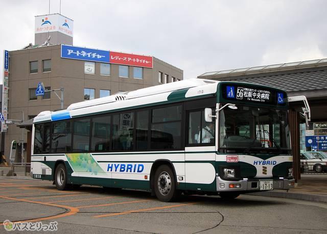 熊野からやってきた松阪中央病院行き「松阪熊野線」