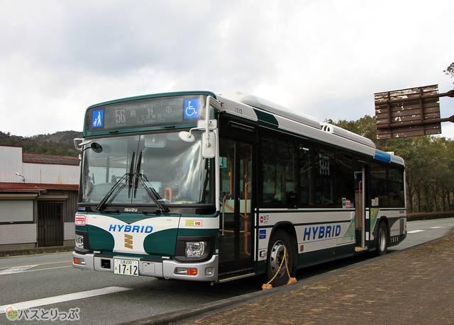 「松阪熊野線」に使用されるいすゞエルガ ハイブリッド