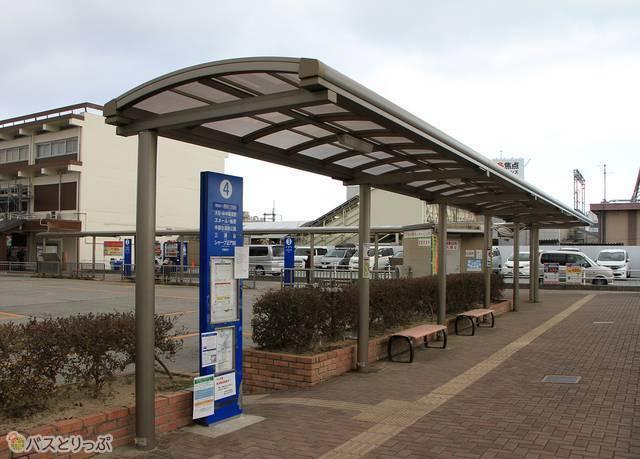 熊野市行き「松阪熊野線」は4番のりばから発車