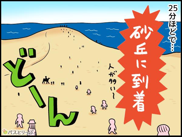 25分ほどで砂丘に到着!人が多い~。