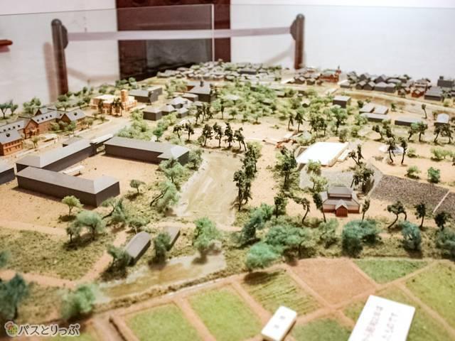 昭和初期の盛岡市内ミニチュア模型