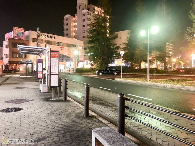 JR堺市駅を出てすぐのバスロータリー