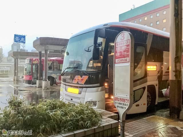 長岡駅東口駅のバス降り場