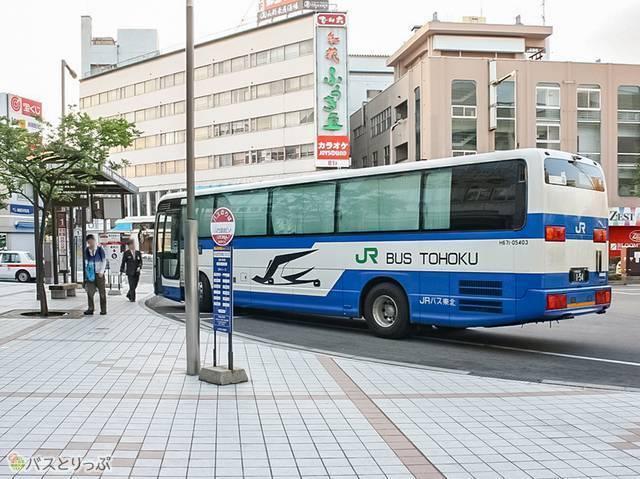 山形駅に到着(夜行バスで東京から山形へ)