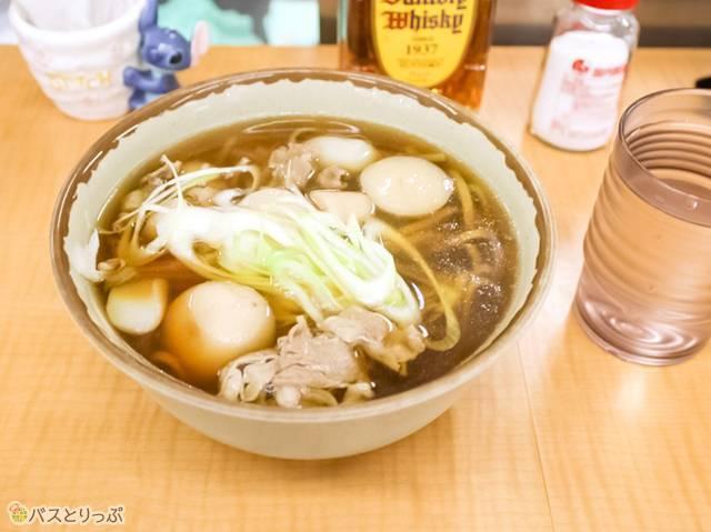 芋煮そば 500円(夜行バスで東京から山形へ)