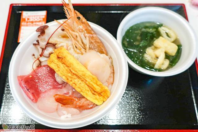 好きな具材を集めてオリジナルの海鮮丼が完成