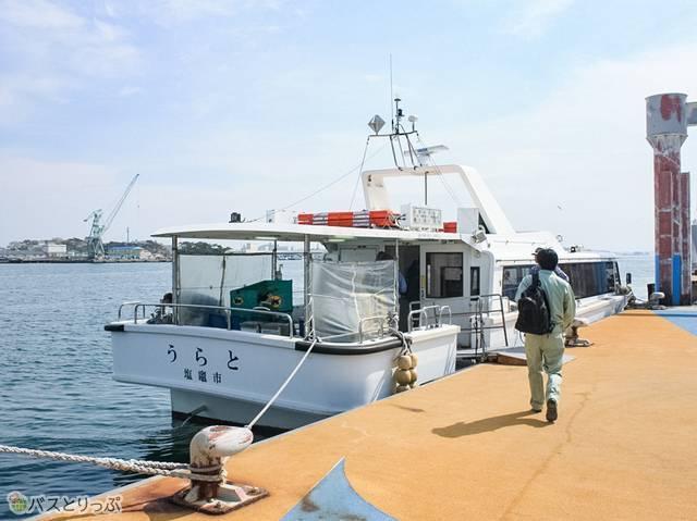 塩竈市営汽船に乗り込み野々島へ(往復1