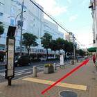 「神戸三宮 (高架商店街前高速バス停)」バス停を元町方向(三宮駅と逆方向)へ直進