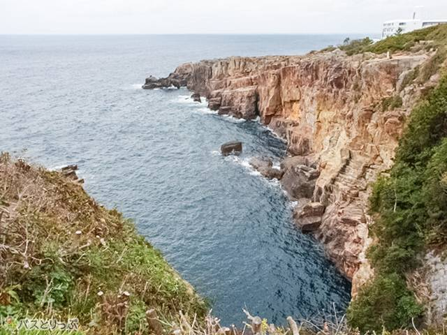 崖!(白浜海中展望塔・三段壁)