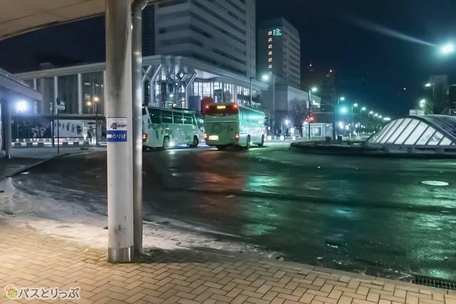 バスはこの後、高岡、氷見、和倉温泉などを経由、七尾まで向かいます