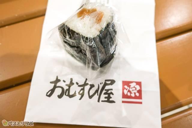 こちらは福井梅のおむすび170円
