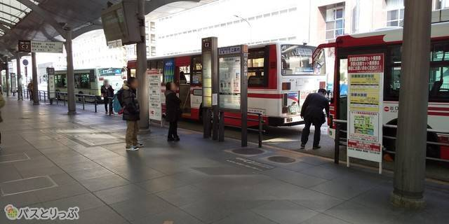 京都駅の乗り場はC2