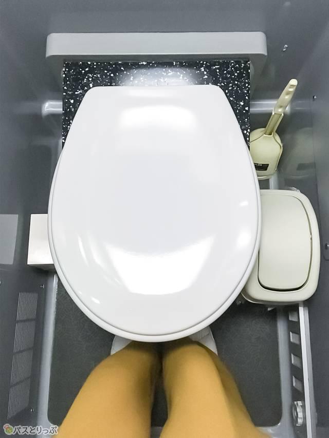 かなりコンパクトなトイレ内