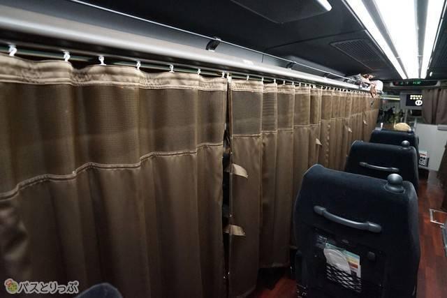 自分だけの空間を確保するプライベートカーテン