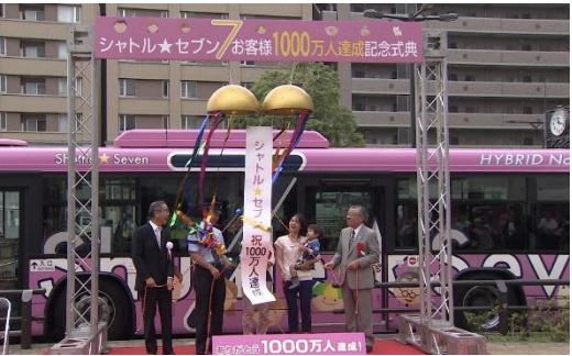 1,000万人達成記念式典の様子