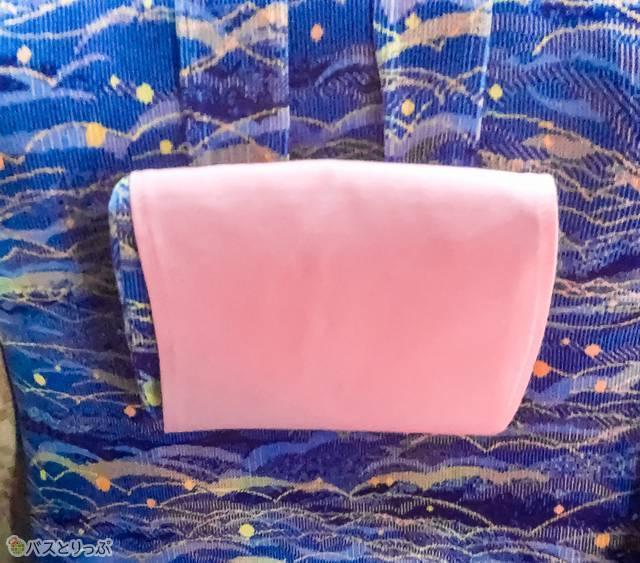 座席に備え付けられている枕