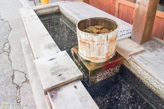 A: Okinaya's footbath (free to use)(Shima hot spring ASHIYU)