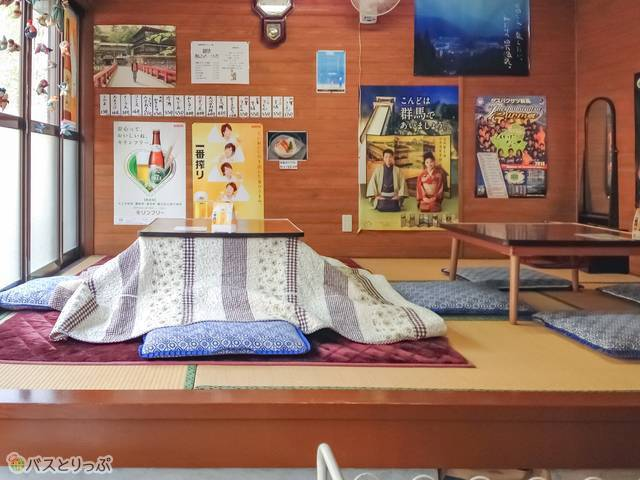 A kotatsu, which is a small table with an electric heater affixed underneath.