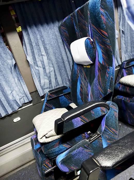通常の背もたれの位置(プレミアムドリーム11号で東京から奈良へ 新幹線より便利な夜行バスの旅)