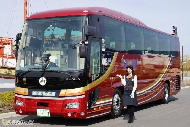 貸切バスのイメージを覆す奈良交通新型車両「朱雀」