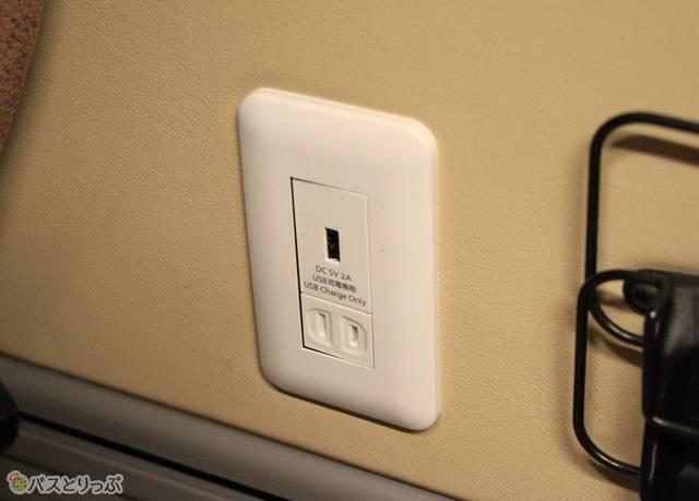 USBポートとコンセント