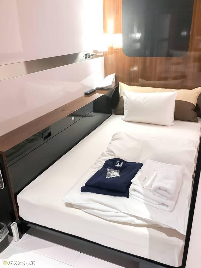 ビジネスクラスキャビンのベッド