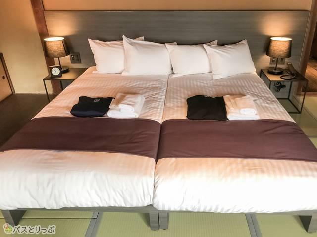 ハリウッドツインサイズのベッド