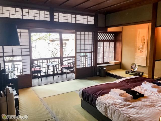 京町家スイートルームの部屋内