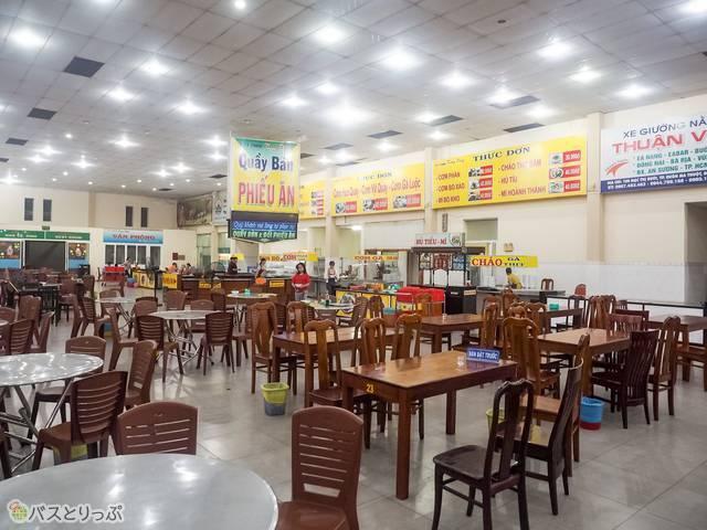 休憩所の食堂