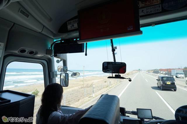 日本海を眺めながらのクルージング