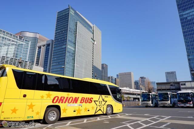東京駅鍛治橋駐車場に到着