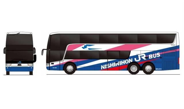 西日本JRバスの車両外観イメージ