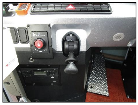 非常ボタン(運転席左側)