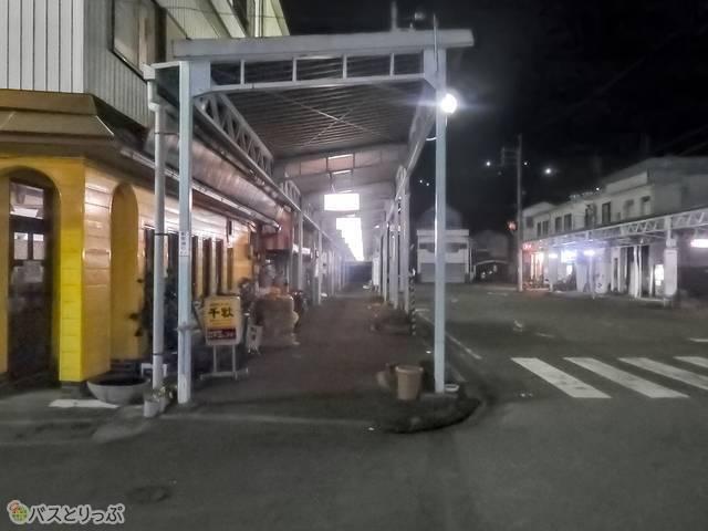 駅を出て道路左側を直進する2