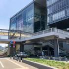 バス乗り場から見たNHK岡山放送局
