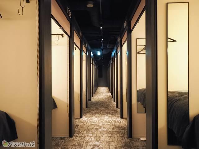 客室は各フロア38室×4フロアで、全152室