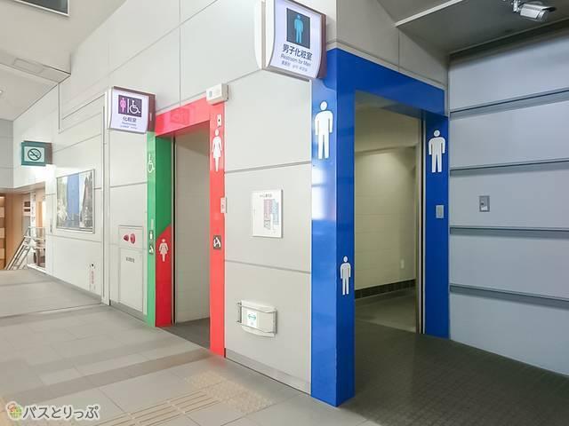 秋田駅西口方面にある多目的トイレ