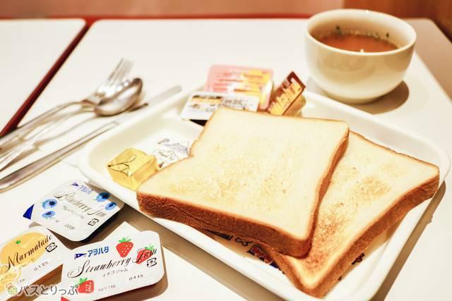 朝食メニュー(スープもあります)