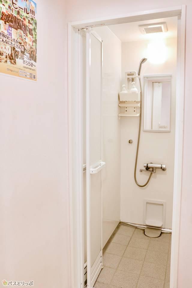 シャワールームの様子
