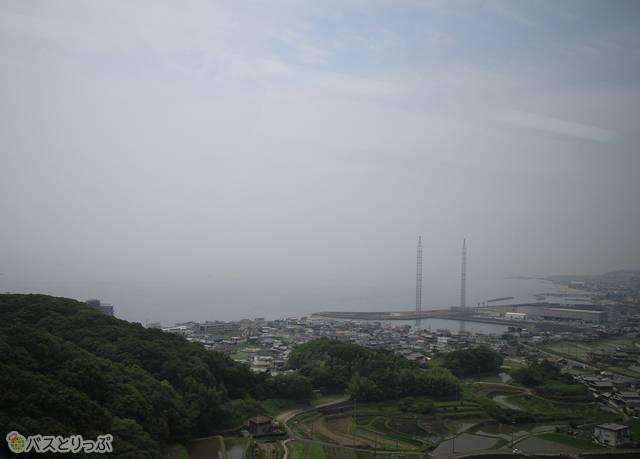 明石海峡大橋を渡り淡路島へ