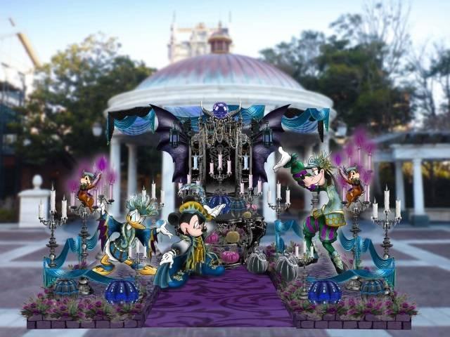 ウォーターフロントパークのデコレーション(c)Disney