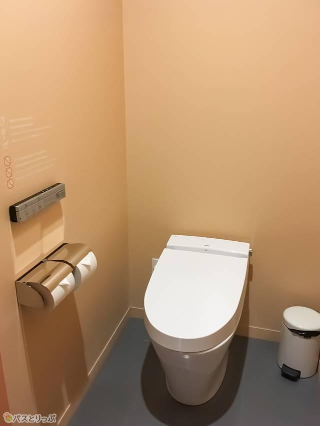 トイレも清潔感アリ!
