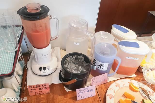 夏場限定の「フレッシュトマトジュース」はホテルターミナルインのオリジナル!