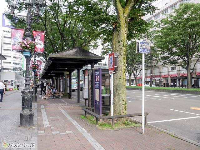 仙台駅西口から徒歩3分の乗り場
