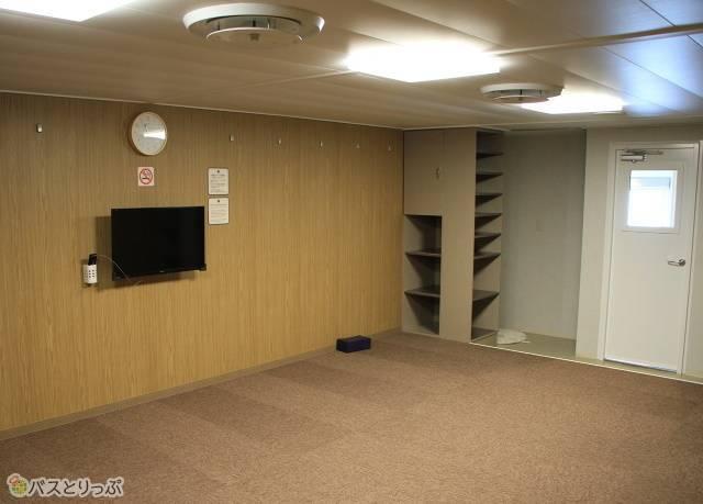 津軽海峡フェリー 2等船室に該当する「スタンダードルーム」